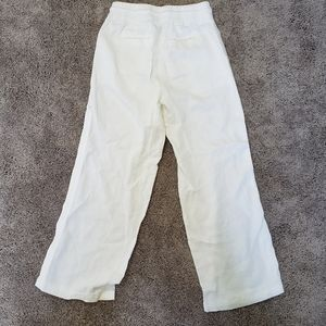 Athleta Cabo Linen White Pants
